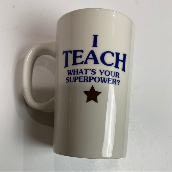 "Threshold Other - Porcelain mug ""I Teach What's Your Superpower?"""